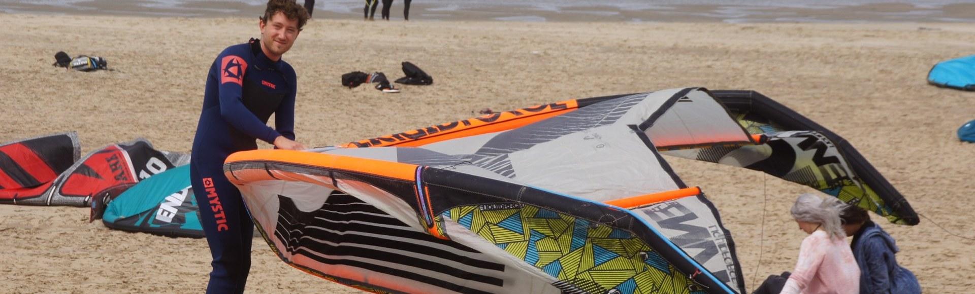 Kite gear stalling Bloemendaal